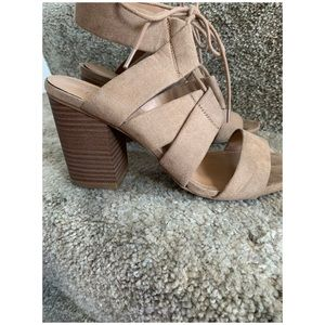 Medina tie sandal heels.